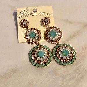 Beautiful crystal earrings
